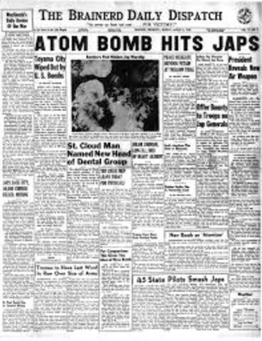 First atomic bomb was dropped.