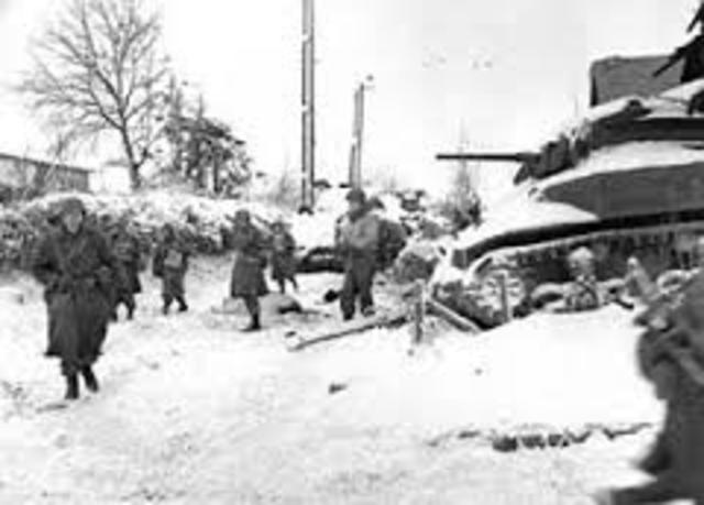 Battle of Bulge-  last offencive of German Forces
