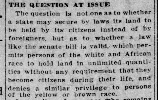 Alien Land Law of 1913