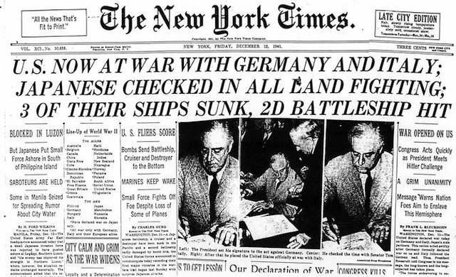 United States Delcares War
