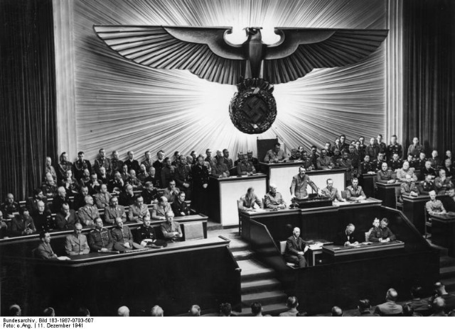 Italy and Germany Declare War on the United States