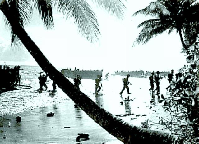 US Marines land in Guadalcanal