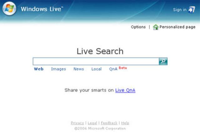 Evolución de MSN a Windows Live Search