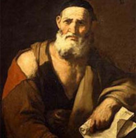 BC Leucippus died.