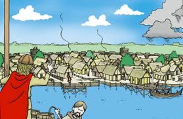 Hedeby blev grundlagt af Kong Godfred