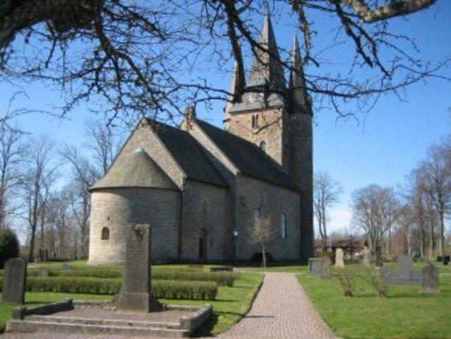 Den første kristne kirke blev bygget i hedeby.
