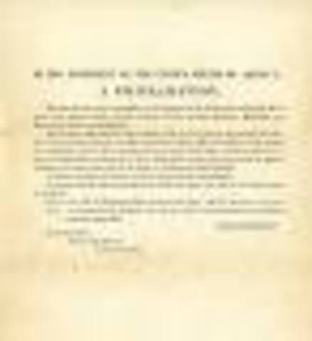 President Lincoln issues a Proclamation of Blockade