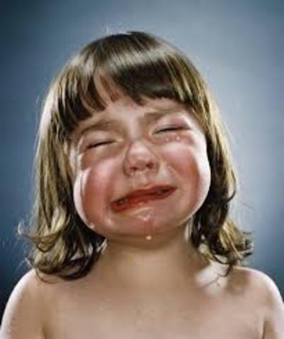 Cuando yo tenía un año, yo lloraba, yo babía, y yo gatíaba.