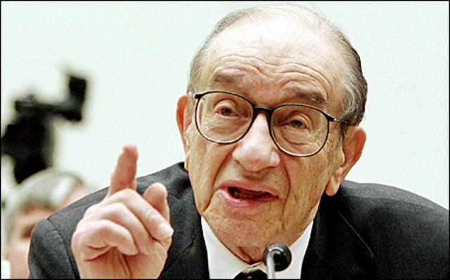 Intervención de Alan Greenspan.