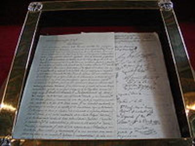 Declaracion de Independencia de Bolivia