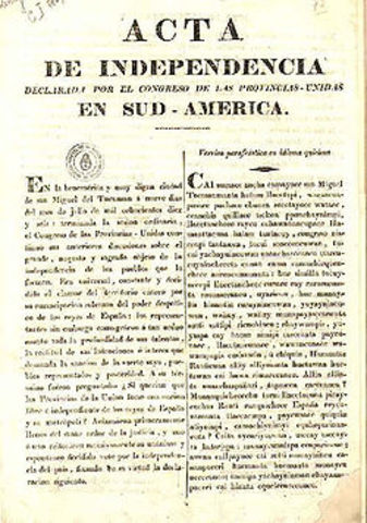 Declaracion de Independencia de la Argentina