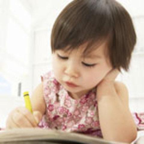 Cuando yo tenía siete años, yo creía dibujos, yo copíaba mi hermana, y yo pretendía estar dormida.