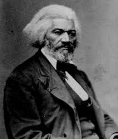 Frederick  Douglass is born.