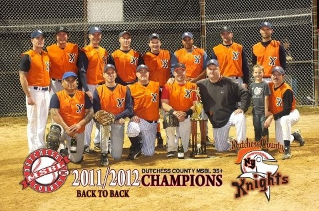 DCMSBL 35+ Back-to-Back Champions (Dutchess County Knights)