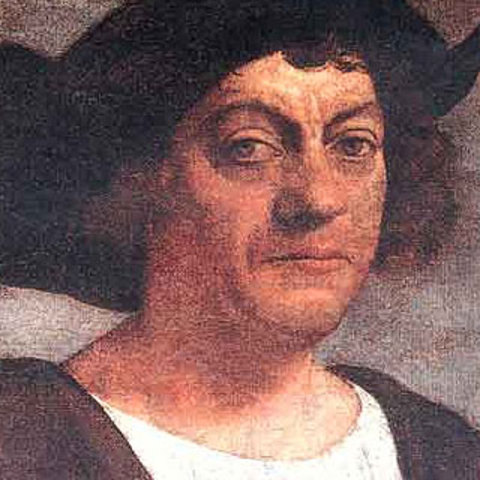 Christopher Columbus arrives in the Carribbean