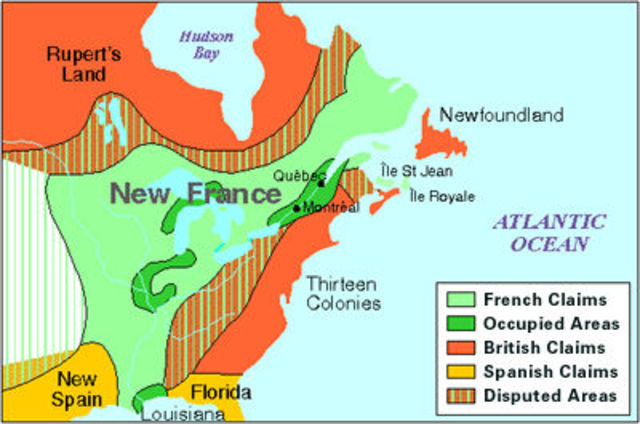 The creation of New France and Quebec City