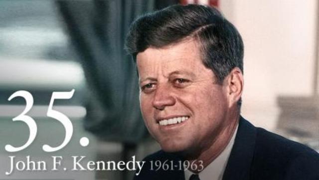 John F. Kennedy inaugrated