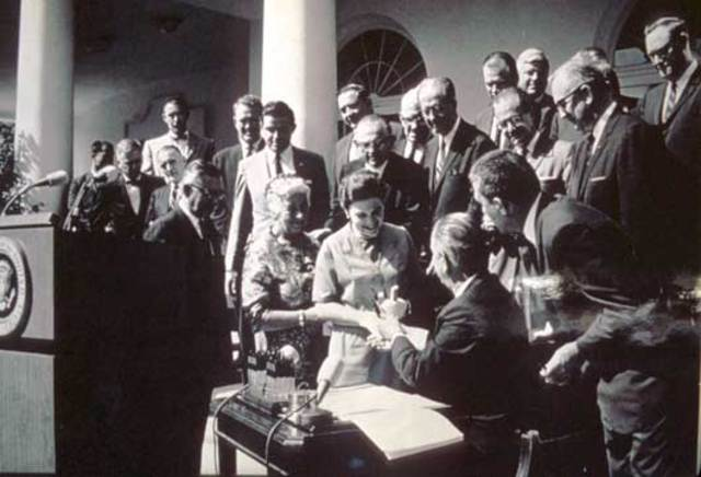 LBJ Signs Wilderness Act