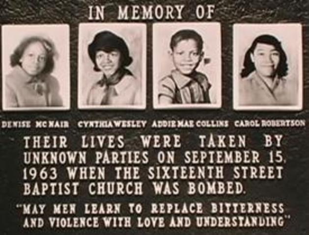 Baptist Church Bombing, Alabama