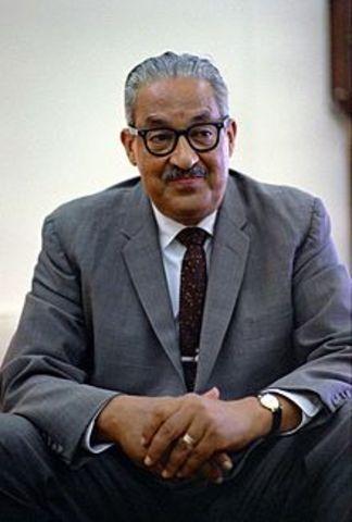 LBJ appoints Thurgood Marshall