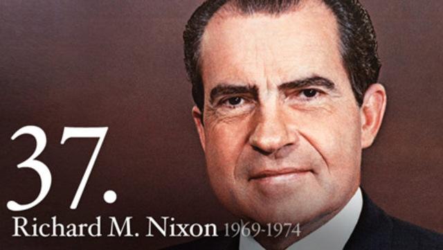 Richard M. Nixon takes office