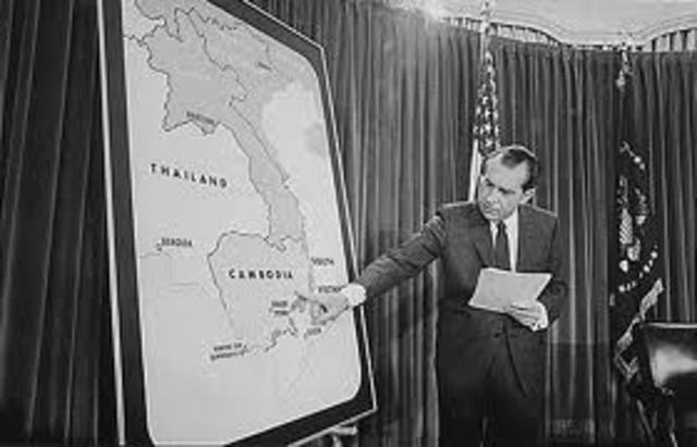 Nixon extends the war to Cambodia