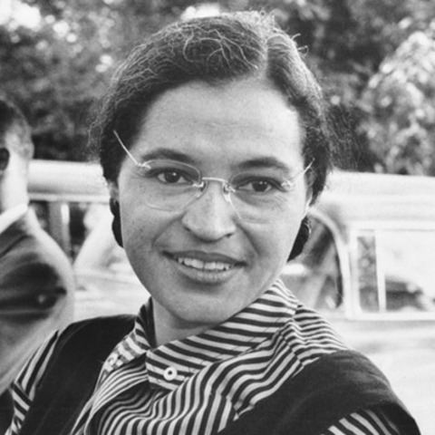 Rosa Parks refuses to give up her seat on the bus