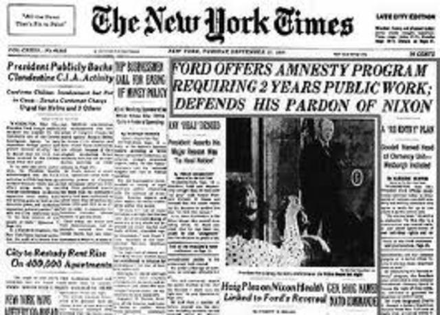 Nixon Introduces Amnesty Program