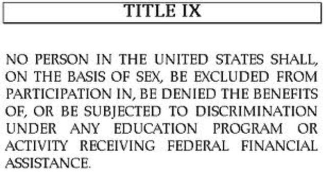 Title IX of the Education Amendments