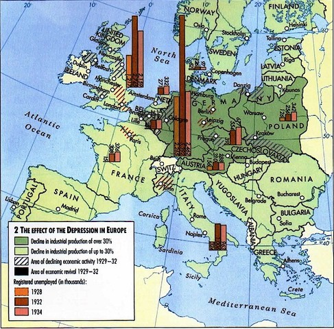 Great Depression spreads to Europe