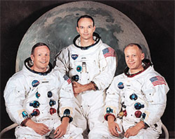 U.S. Astronauts Land On Moon