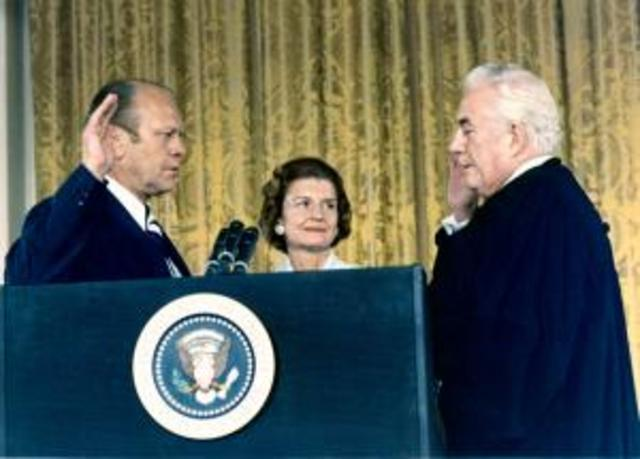 Gerald Rudolph Ford takes over the Presidency
