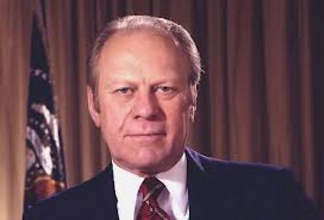 Gerald R. Ford is inagurated (1974-1976)