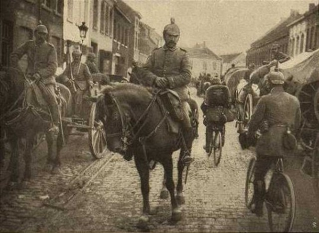 Germany declares war on Belgium and invades; the Schlieffen Plan in put into action