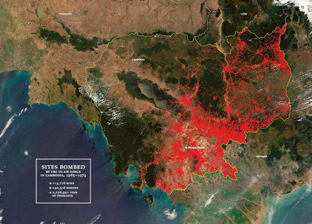 Bombing in Cambodia