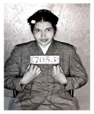 Rosa Parks arrest (Begining of Montgomery bus boycott)