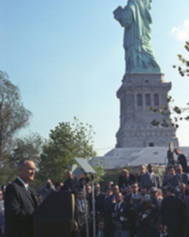 Johnson signs Immigration and Nationality Act of 1965