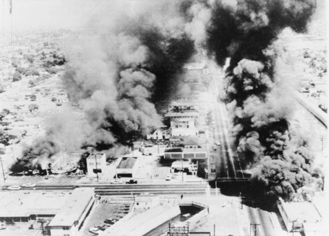 Beginning of Watts Riots