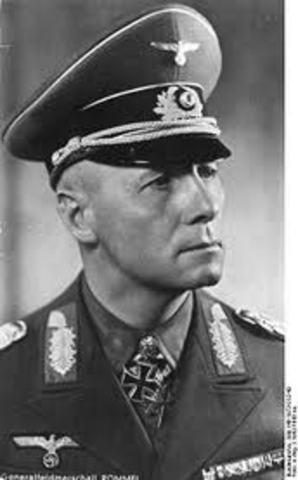 German General Rommell surrenders in North Africa
