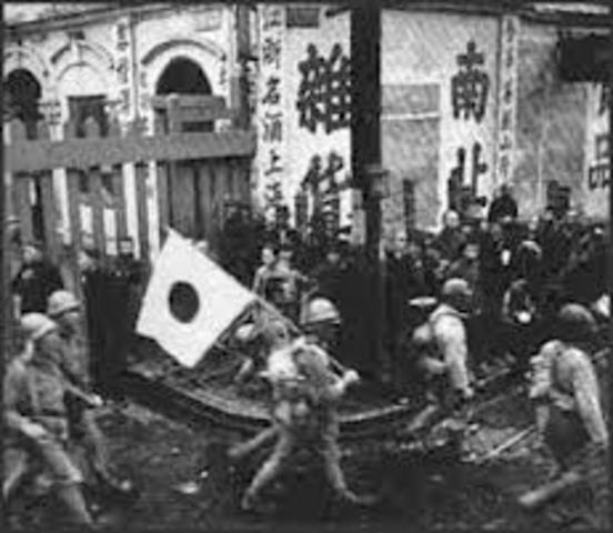 Japan invades northern China