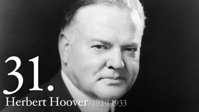 Herbert Hoover elected President