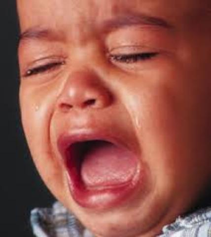 Cuando yo tenía un año yo lloraba, yo mordía, y yo retenía.