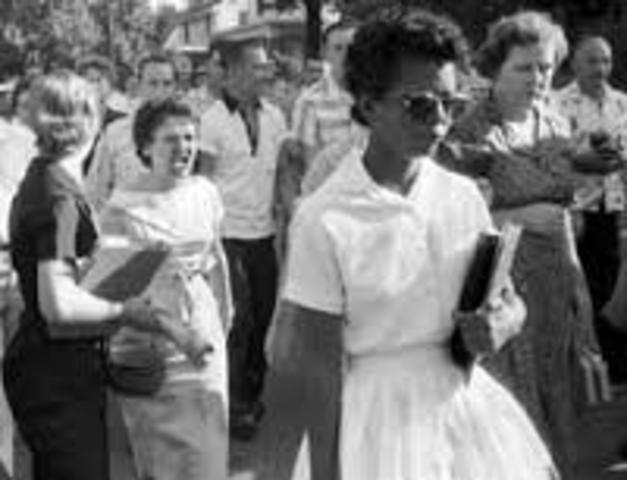 Little Rock Central High School Desegregates