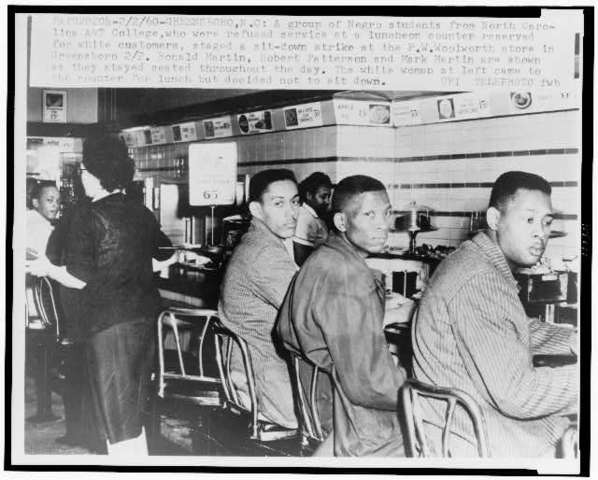 Woolworth's Lunch counter issue