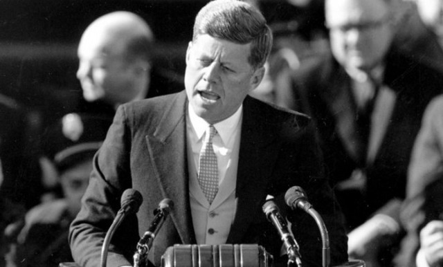 Kennedy Delivers his Inaugural Address
