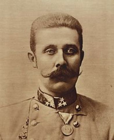 Assassination of the Arch Duke Franz Ferdinand and his wife Sophie