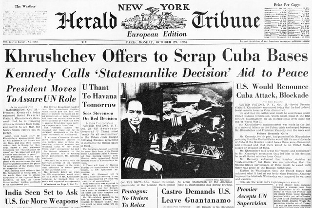 The Tension of the Cuban Missile Crisis Relieved