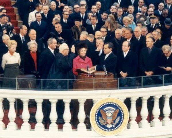 Richard Nixon assumes the presidency