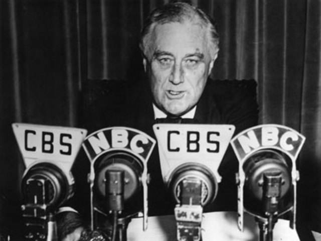 First Fireside Chat by FDR