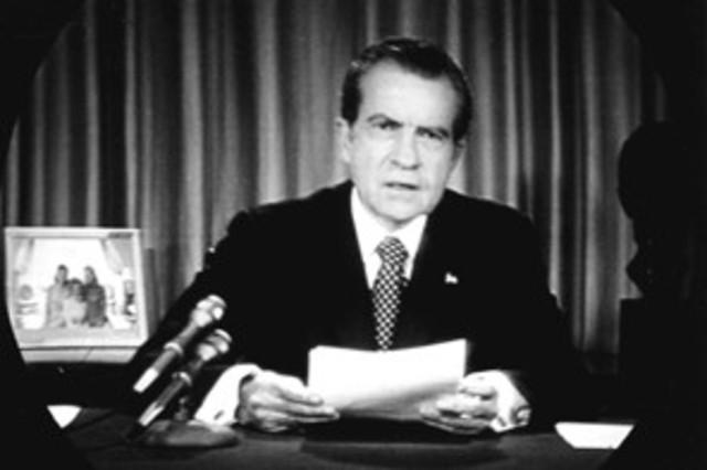 Richard Nixon Resigns From The Presidency